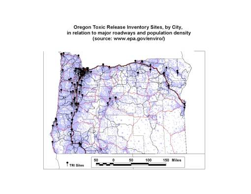 Oregon Sites based on a National Internet Data Source