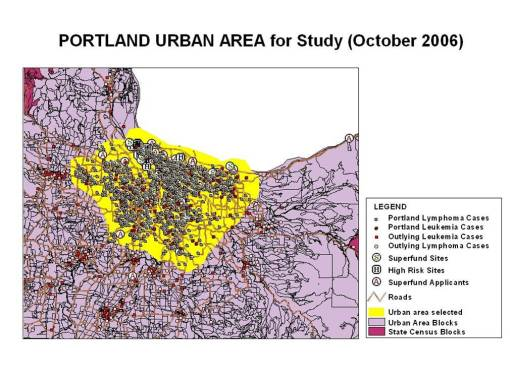 Development of the Study Area for Exposure to Chemical Release in a Metropolitan Area