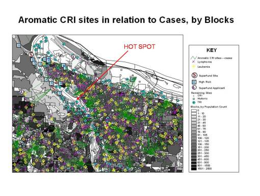 "Significantly Dense Superfund, SFA, HR, CRI and TRI CRI sites or ""Hot Spot"""