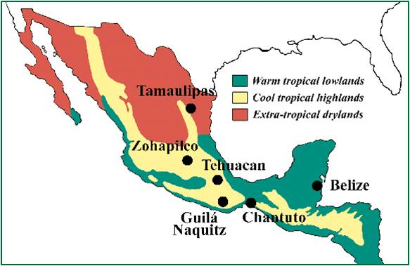Geographical Information Mexico And Their Education System - Mexico climate map