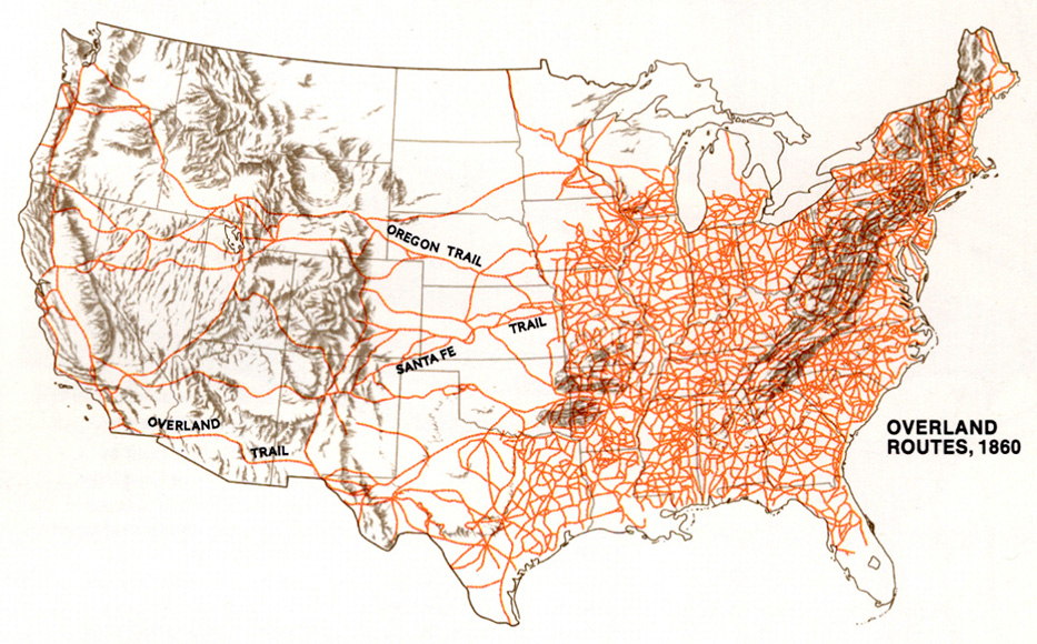 1890 Map of railroad expansion across the US Maps Pinterest