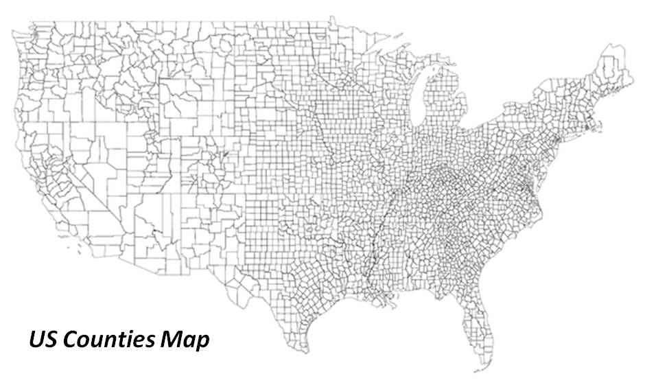 Grid mapping health and disease in the United States Brian