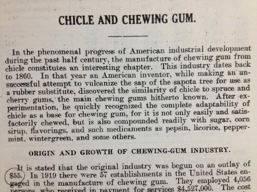 History of gum essay