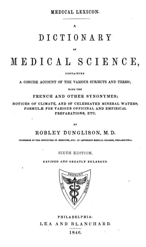 Dunglison_1846_MedicalLexicon_tp