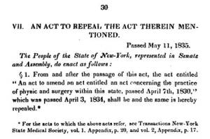 NYMJ_v2_Apr7-1830-MDActRepealedNYS_May11-1835
