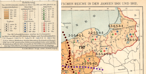 Brockhaus_Infektionskrankheiten-im-Deutschem-Reich_1901-1902_entire_naturalbreaks_labeled_points-rankassignmts-ne