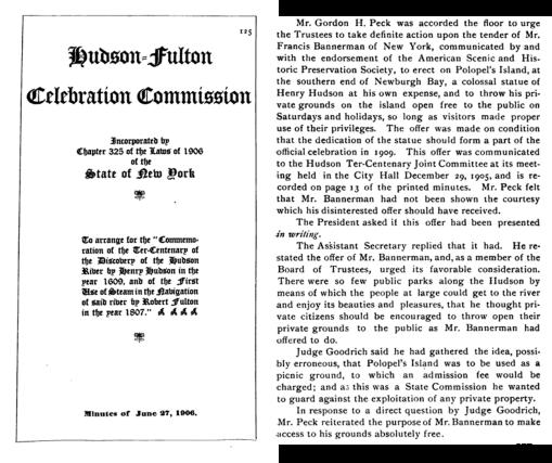 HudsonFultonCelebration_1906_BannermansStatement