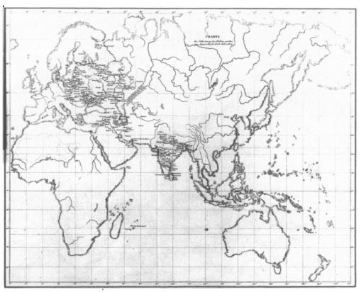 Schnurrer_map2-world_Cholera_Aug1817-July1831
