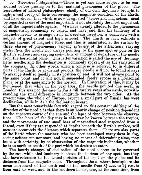 ManualGeogrlSci_1852_p196-TerrestialMagnetism