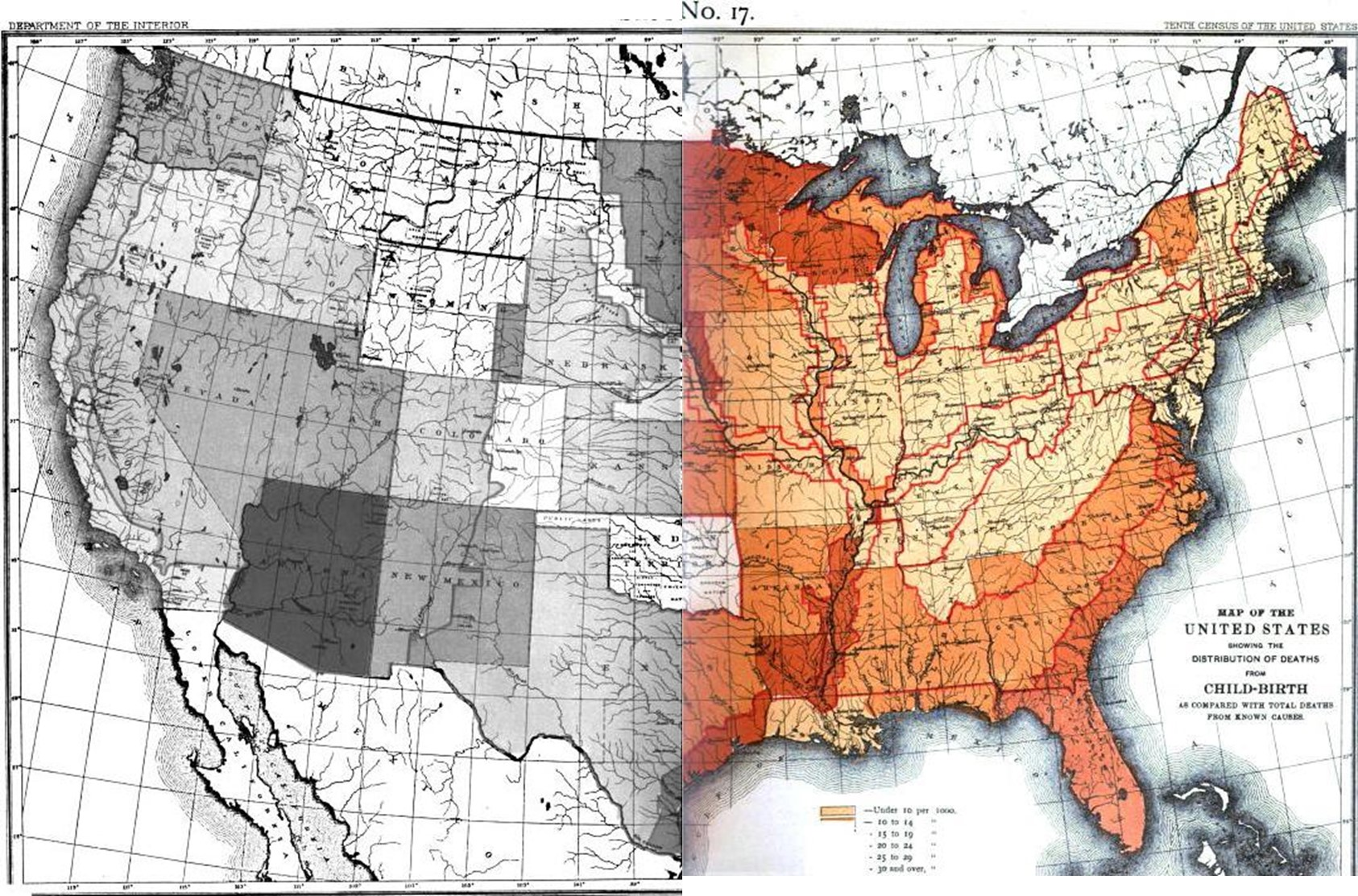 1890 The 1890 Census Disease Maps Brian Altonen Mph Ms - Map-of-the-us-in-1890